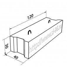 Фундаментные блоки (ФБС) 12-4-3