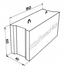 Фундаментные блоки (ФБС) 8-4-6