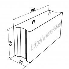 Фундаментные блоки (ФБС) 9-3-6